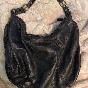 Lucky Brand Black Hobo Large Bag